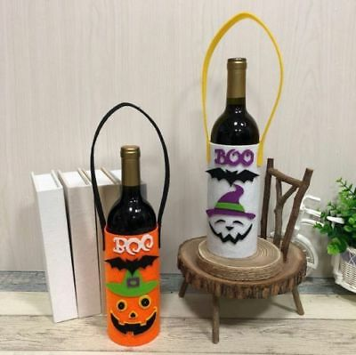 Creative Halloween Fabric Wine Bottle Bag Cover Champagne Holder Party Decor ST