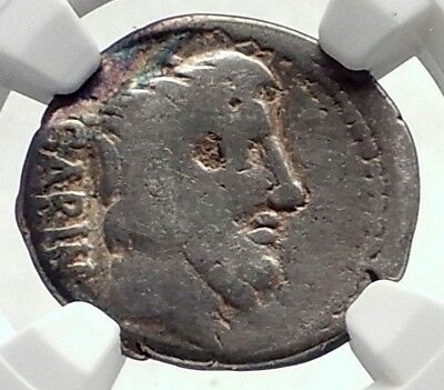 Roman Republic Sabine KING of Rome TATIUS Ancient Silver Coin CHARIOT NGC i72098