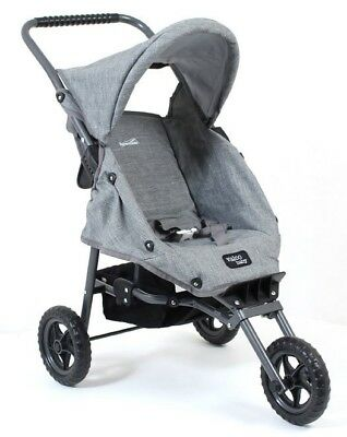 Valco Baby Just Like Mum Mini Marathon Dolls Stroller - Tailormade Grey Marle