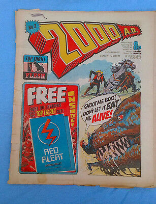 2000AD Prog 3 first issue 12th March 1977 - No Free Gift