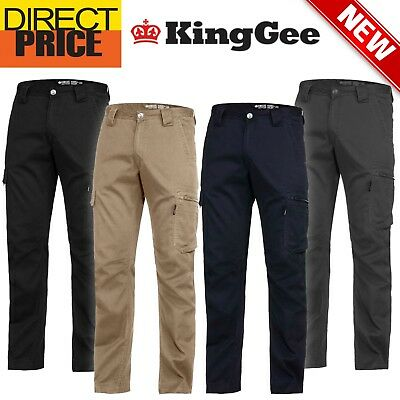 King Gee Summer Pants Work Cargo Narrow Fit Tradie 12 Pockets K13290 NEW