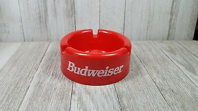 Budweiser Red Plastic Pipe Ashtray
