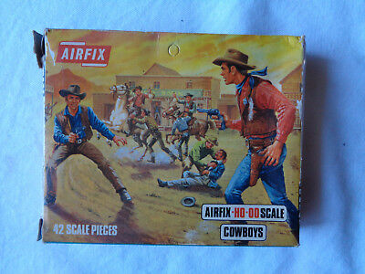 Airfix Cowboys HO-OO 1/72 Scale Blue Box Figures Complete