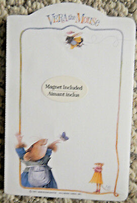 Hallmark Vera the Mouse Memo Notepad 1997 Marjolein Bastin 80 Sheets Magnet USA