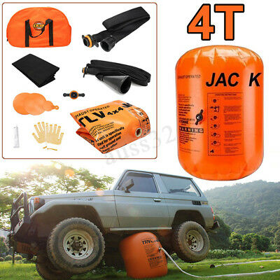 Exhaust Pump Dual Inflatable Air Jack 4T Car Vehicle Truck Off-Road Rescue Tools
