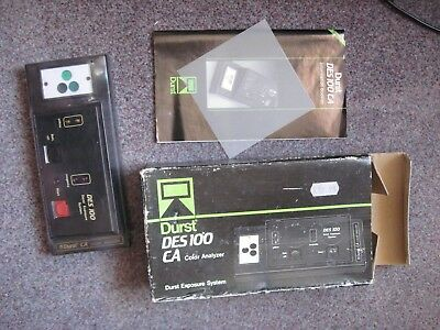 Durst DES 100 CA Color Analyzer Exposure System New Sealed Boxed & Instructions