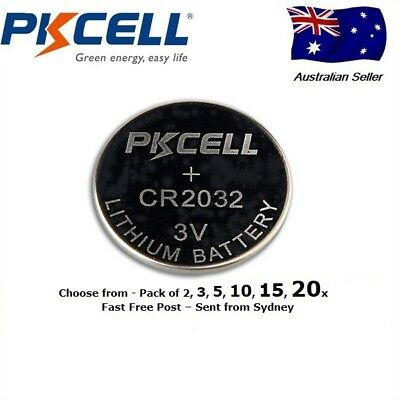 PKCELL CR2032 lithium button coin cell battery 3v Free Post Fast Aus Sydney