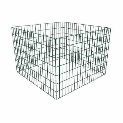 Square Mesh Garden Composter 100 x 100 x 70 cm Waste Bin Powder-Coated Steel