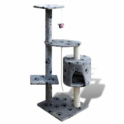 Cat Tree 114 Pet Scratcher Post Poles House Gym Condo Furniture Scratching Grey