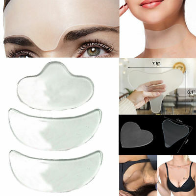 Reusable Anti Wrinkle Chest Neck Eye Face Pad Silicone Removal Patch Skin Care H