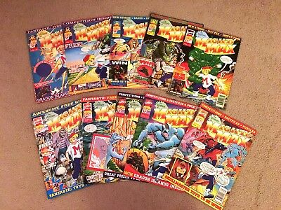 10 Issues of The Adventures Of Mighty Max - Marvel Comics - 1995 Rare Comic