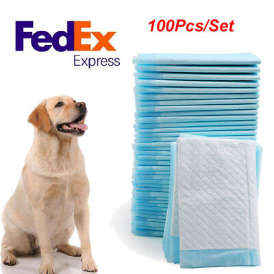 100Pcs 33x45cm Dog Puppy Training Wee Pee Pads Underpads House Breaking Bed Pads