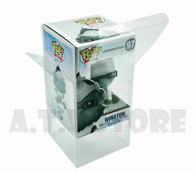 Vinyl Box Case Protector For Overwatch Winston Funko Pop + Micro Cloth