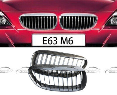 Front Hood Grille Kidney Carbon Fiber Grill Grille For BMW 6 Series E63 E64 M6