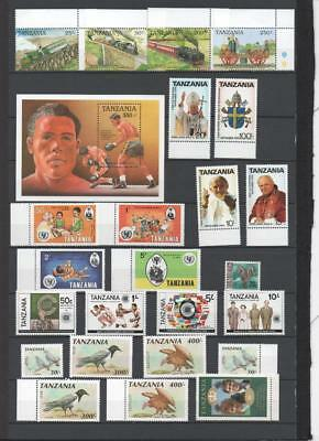 Tanzania Thematic Collection On 2 Pages