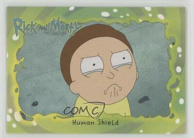 2018 Cryptozoic Rick and Morty Season 1 #37 Human Shield Non-Sports Card z7j