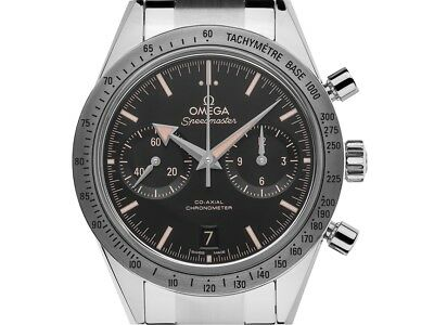 Omega Speedmaster '57 Co-Axial Stahl Automatik Chronograph Armband Stahl 41mm