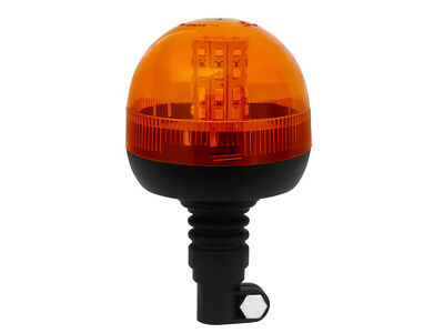 12V / 24V Flexi Din Spigot Pole Mount Led Flashing Amber / Orange Warning Beacon