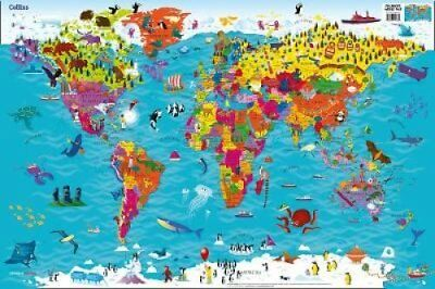 Collins Children's World Wall Laminated Map by Collins Maps 9780008313463