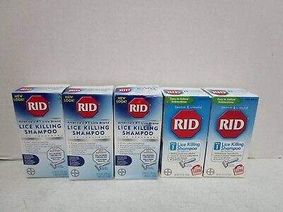 5 Rid Lice Killing Shampoo With Comb Step 1 - 2 Fl Oz Each - 10/18+ - Mm 9364