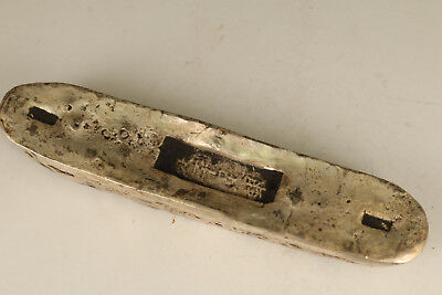 Chinese Old Copper Not Silver bar Handmade coin Statue