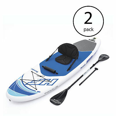 Bestway Hydro Force Inflatable 10 Foot Oceana Stand Up Paddle Board (2 Pack)