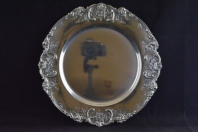 """Reed & Barton Francis I Sterling Silver Hand Chased Service Plate 10-3/4"""""""