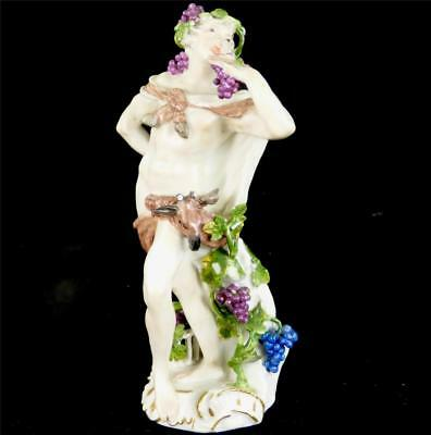 18Th Century German Meissen Porcelain Figure Figurine Bacchus