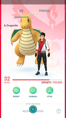 Pokemon-Go-account Level 32-33 Premium - Dragonite & 3K+ CP Rare - 2016 Account
