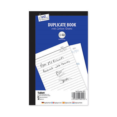 Duplicate Book - A5 Invoice Receipt 80 Office Sales Full Size Business Home Use