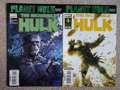 INCREDIBLE HULK - Issues 104 & 105 2007 PLANET HULK (Near Mint)