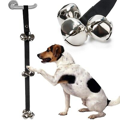 Dog Potty Training Door Bells Puppy Toilet Adjustable Tools Rope Pet Jingle UK