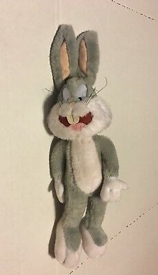 Vintage Warner Brothers Looney Toons Bugs Bunny Stuffed Plush Ace