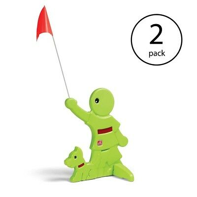 Step2 Kid Alert Visual Warning Signal Child Safety Sign, Neon Green (2 Pack)