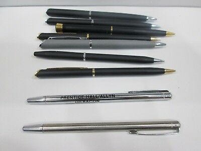 Lot Of Seven Pencils And 2 Emphasis Pointers With Advertisements- All Working