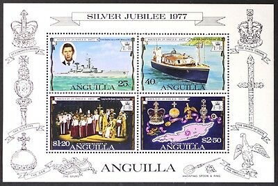 AT032 ANGUILLA 1977 QEII Silver Jubilee S/S Mint NH