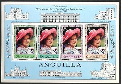 AT033 ANGUILLA 1980 Queen Mother 80th. Birthday S/S Mint NH