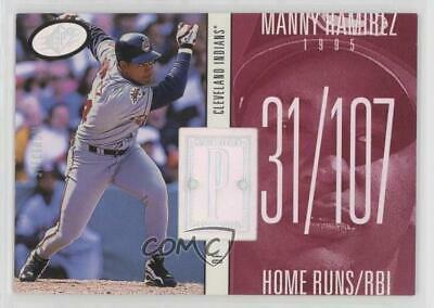 1998 SPx Finite Spectrum #224 Manny Ramirez Cleveland Indians Baseball Card