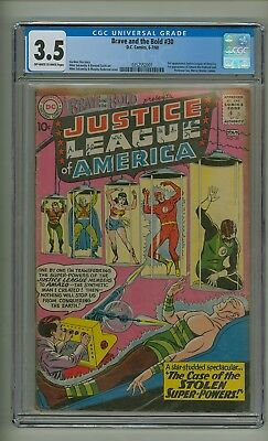 Brave and the Bold 30 (CGC 3.5) OW/W pgs; 3rd Justice League; 1st Amazo (c#20494