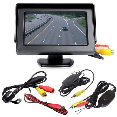 4.3″ Wireless Car Reversing Camera Rear View LCD Monitor +HD IR Night Vision Kj