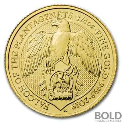 2019 Gold Great Britain Queen's Beasts (The Falcon) - 1/4 oz