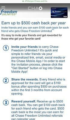 Chase Freedom Unlimited $150 Sign up Bonus