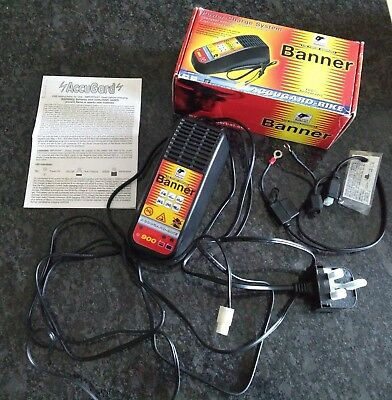 Banner Accugard (Optimate type) Bike Battery Charger 0.9A 12volt