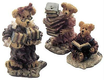 Boyds  Wunnerful Village The Public Library Ms Griz, Baily & York Figurines NIB