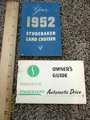 Vintage 1952 Studebaker Land Cruiser owner's manual + Automatic Drive Manual