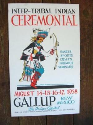 37th Annual Gallup Inter-Tribal Ceremonial Poster - 1958 - Louie Ewing - IPB37