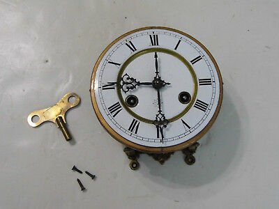 Old German Junghans R/A Wall Clock Movement Mounting Plate Key for Parts Repair