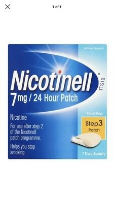 Nicotinell 7mg/24 Hour Patch Step 3 Patch (7 day supply) 6/2019