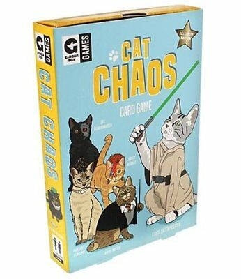 Ginger Fox CAT CHAOS GAME Family Card Game 8+ CELEBRITY EDITION