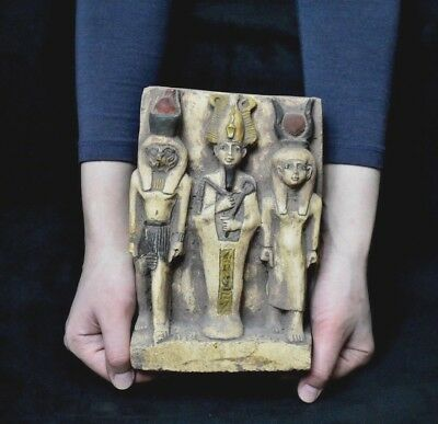 ANCIENT EGYPT ANTIQUE  EGYPTIAN sandstone statue Osiris myth 1500–300) BC